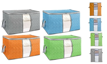 Foldable Storage Bag Clothing Organizer for Clothes, Blankets, Closets, Bedrooms