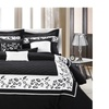 Bed in a Bag 2764 12 Piece Comforter Set Tiger Black & White