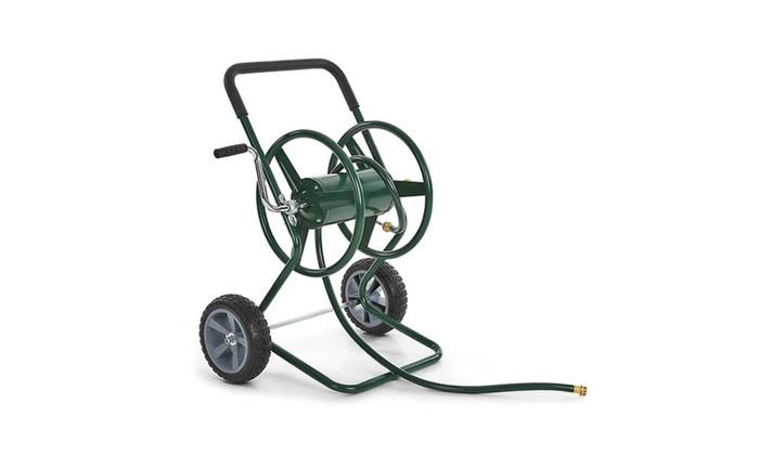 ikayaa garden hose reel cart outdoor water planting