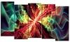 Hypnotize Multi - Large Abstract Wall Art - 60x32 - 5 Panels