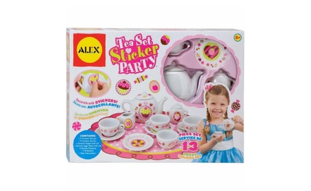 ALEX Toys Craft 13 Piece Tea Set Party with Over 100 Stickers 5999fa23-0fac-4ea8-8ee2-6042f7460e64