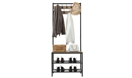 Coat Rack Shoe Bench