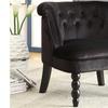 Florence Black Velvet Vanity Accent Chair