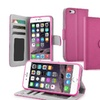 """Insten Pink Leather Wallet Flip Case Id Credit Card Slot Iphone 6 4.7"""""""