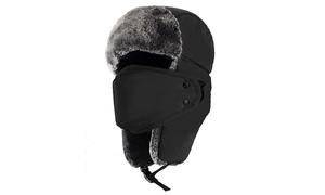 Men's Russian Trooper Fur Earflap Winter Ski Hat