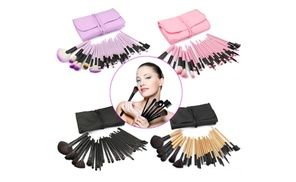 Professional 32 Piece Make Up Brush Set with Bag at Avenue A, plus 6.0% Cash Back from Ebates.