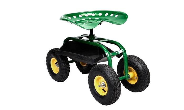 Superbe Rolling Garden Cart Work Seat Heavy Duty Tool Tray Planting Scooter ...