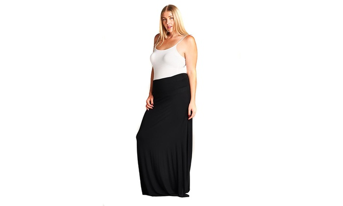 c17b619cb Up To 41% Off on Womens Solid Black Basic Fash... | Groupon Goods