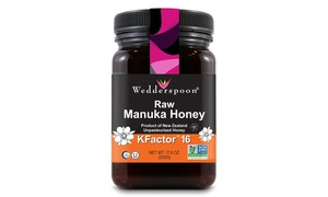 Wedderspoon Raw Premium Manuka Honey KFactor 16  (17.6 Ounce or 8.8 ounce)