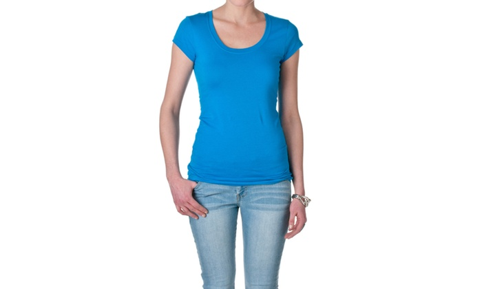 Active Basic Short Sleeve Scoop Neck Tee 8755-7
