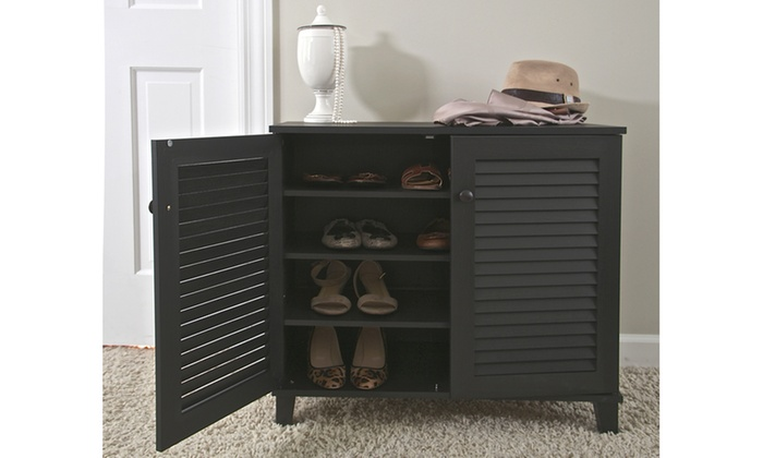 Up To 66 Off On Baxton Studio Shoe Cabinet Groupon Goods