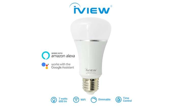 iview isb610 wifi smart bulb multi color work with alexa google assistant groupon. Black Bedroom Furniture Sets. Home Design Ideas