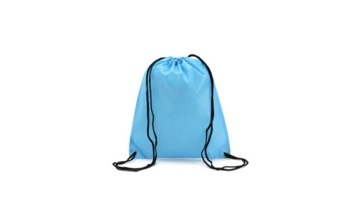 String Drawstring Backpack Cinch Sack Gym Bag School Sport Travel