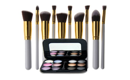 Novo 12 Color Eyeshadow Palette with 10pc White Professional Brush b01c3d75-0a4d-4062-9838-8daf857c2939