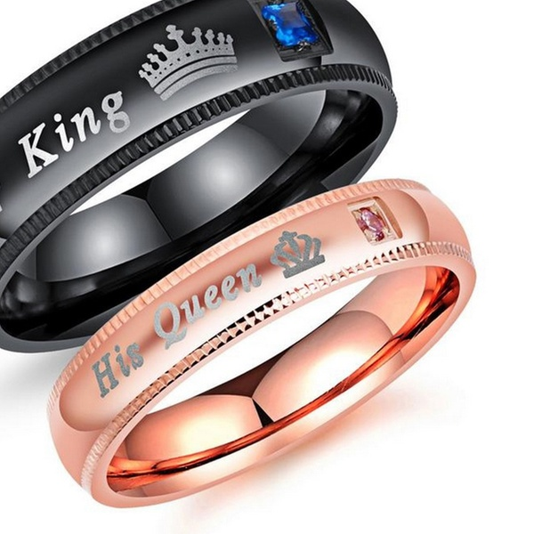 Up To 75 Off On Couple S Matching Ring His Q Groupon Goods
