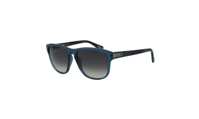 5f37106ccbf5 Lanvin Paris SLN 582 Clear Dark Blue Rectangular Wayfarer Sunglasses ...