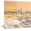 Stockholm Cityscape Panorama Cityscape Metal Wall Art 28x12
