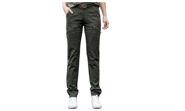 Women's Fashion Korean PullOnStyle Slim Fit Solid Trousers
