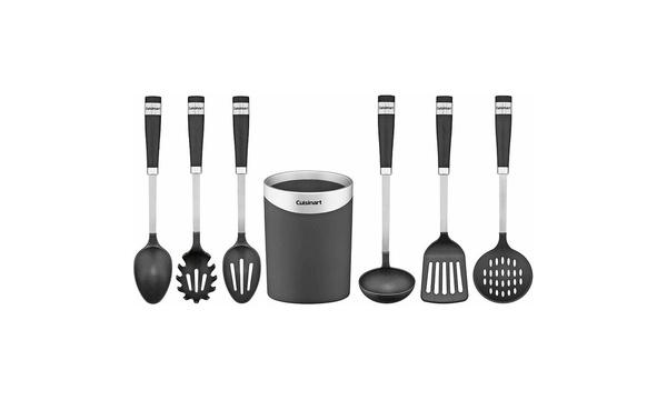 Cuisinart Crock with Barrel Handle Tools (Set of 7)