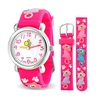 Bling Jewelry Pink Kitty Cat Girls Watch Stainless Steel Back