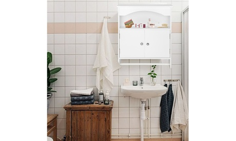 Bathroom Wall Cabinet, Over The Toilet Space Saver Storage Cabinet