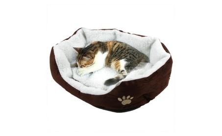 Pet Dog Nest Puppy Cat Cute Soft Bed Fleece Warm House Kennel Plush 9522a3e2-461f-4cda-8ee5-eb3b7575f765