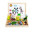 Wooden Jigsaw Animal Puzzle Baby Toy Easel Doodle Zoo Drawing Board