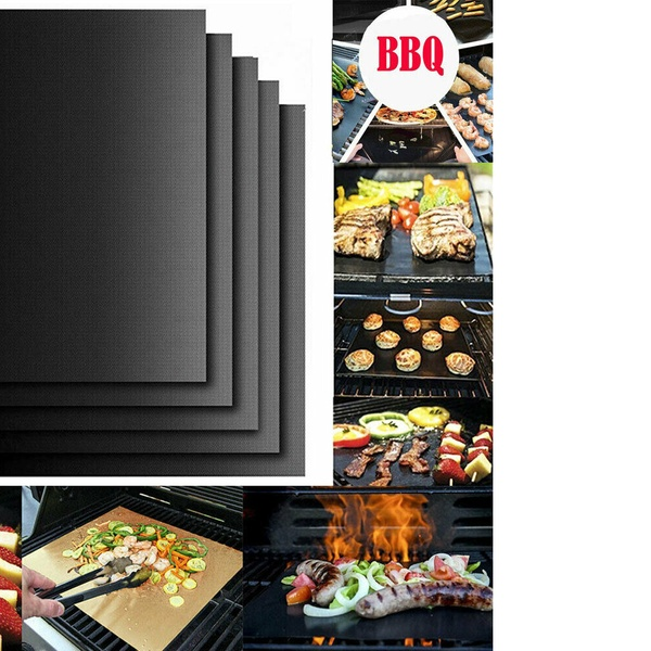 2020 BBQ Grill Mat Non-stick Cooking Barbecue Baking Reusable Sheet Grill Mesh