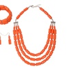 Wedding Beads Necklace Earring Bracelet Set for Women