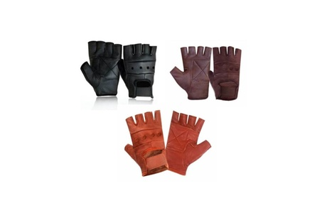 Leather Fingerless Motorcycle Biker Glove - Leatherbull 6b307095-d5d3-4869-afdb-955644a4cc02