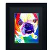 DawgArt 'Stanley' Matted Black Framed Art