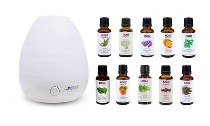 Ultrasonic Diffuser Bundle And 10Pack of Aroma Oils