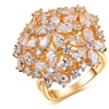 Pear Cut Cluster Simulated Stone Ring for Women