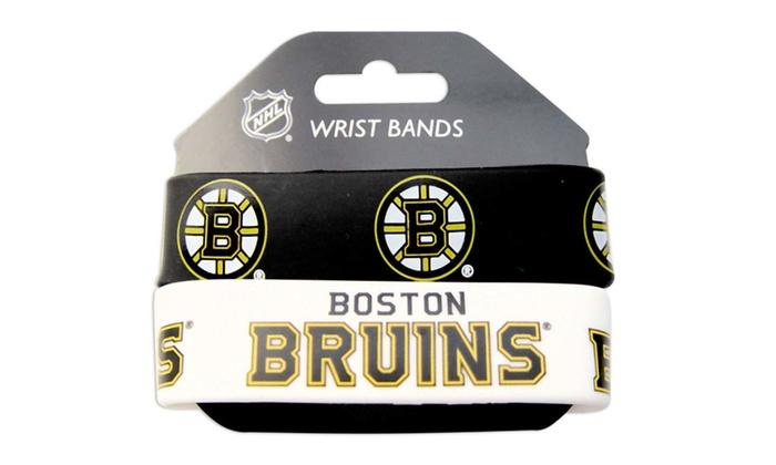 NHL Sports Team Rubber Wrist Band - Set of 2