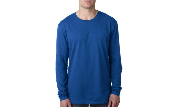 NLA Mens Premium Fitted Long Sleeve Crew Neck Shirt, 3601-3