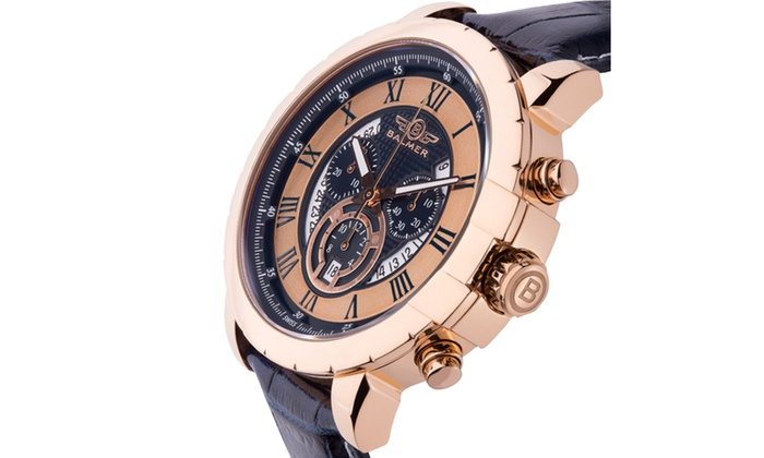 Balmer atalante men 39 s chronograph watch groupon for Accolades salon groupon
