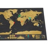Scratch Off Art World Map Poster Decor Deluxe Edition Travel