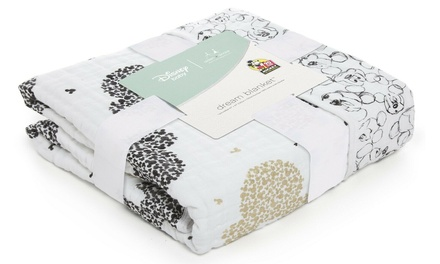 Aden & Anais Classic Dream Cotton Muslin Baby Blanket Mickey's 90th - Scatter