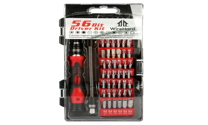 62 in 1 Electronics Tool Kit With 56 Magnetic Bits