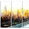 Abstract Sunset Cityscape - Large Metal Wall Art