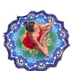 Soft Round Large Lotus Flower Yoga/Beach Tassel Blanket and Towel