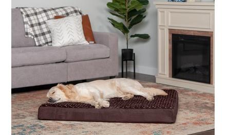 FurHaven Full Support Solid Orthopedic Ultra Plush Dog Bed