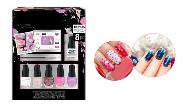 8 Pcs Nail Art Polish Set Nail Design Kit