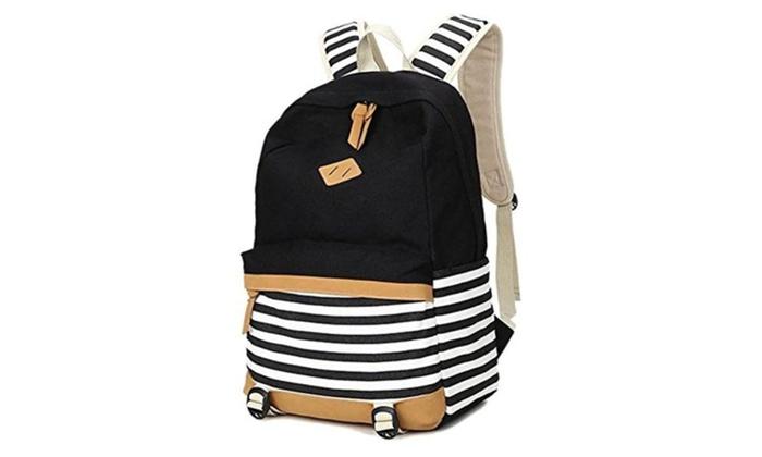 Voogo Girls Lightweight Back Pack Teens Canvas Backpack School Bag