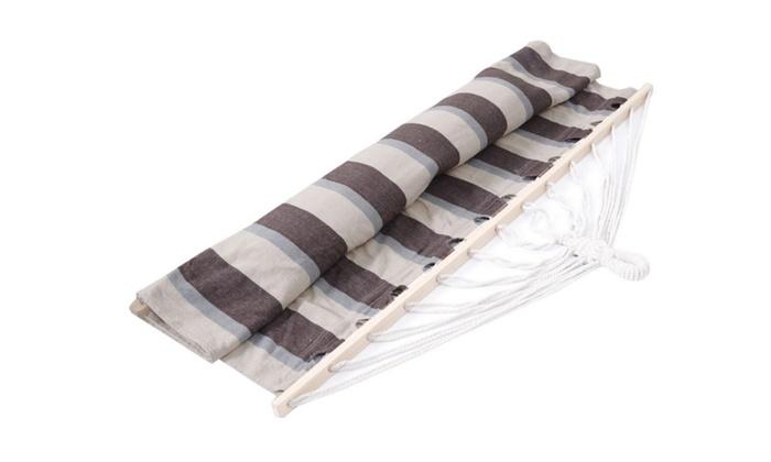 Heavy Duty Polyester : Heavy duty hammock double size wood spreader polyester