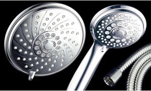 HotelSpa Ultra-Luxury 30-Setting 3-Way Combo Dual Showerhead