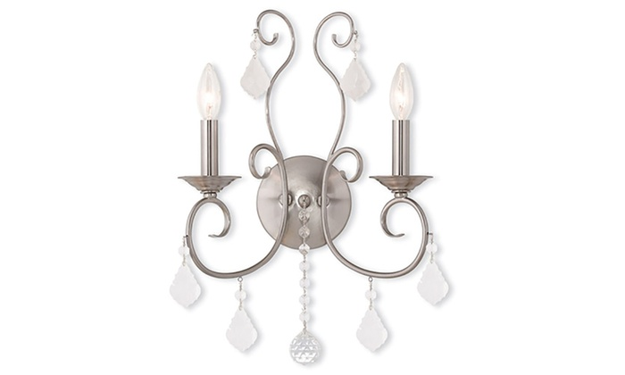 Donatella 2-Light Brushed Nickel Wall Sconce