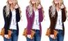 Women Soft V-Neck Modish Button Down Knitwear Long Sleeve  Basic Knit Tunic