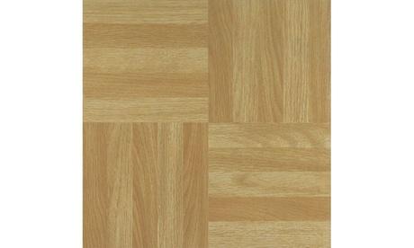 Tivoli Four Finger Square Parquet 12x12 Vinyl Tile - 45 Tiles/45 sq Ft. ebd2b041-c9e6-42ad-9a51-800ad2637c13