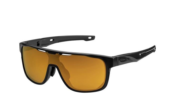 96cc5d544c Oakley Crossrange Shield sunglasses Black 24K Iridium 9390-0431 gold Asian